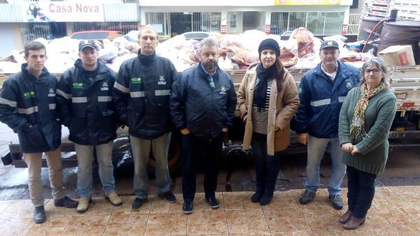 Coronel Bicaco: Operação apreende mais de duas toneladas de alimentos impróprios para consumo