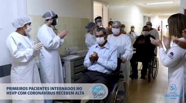 Passo Fundo: Vídeo mostra a alta hospitalar de dois pacientes curados de Covid-19