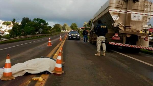 PRF atende atropelamento com morte na BR 153 em Erechim