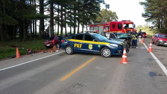 PRF atende acidente com três vítimas mortas na BR 158