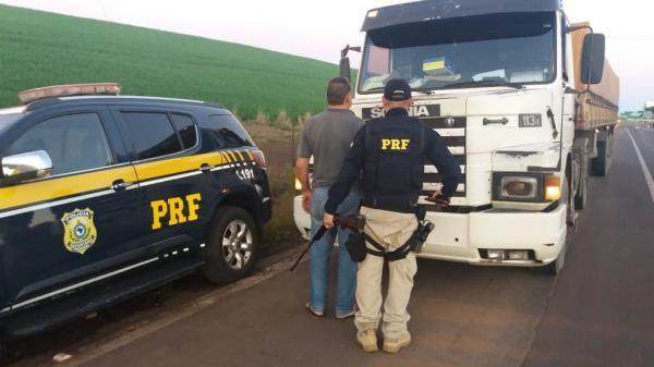 Fiscalização da PRF de Seberi resulta na apreensão de arma de fogo e munições