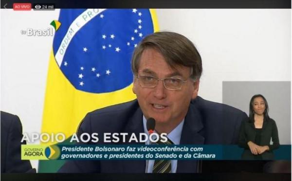Jair Bolsonaro garante que sancionará socorro federal aos estados e municípios