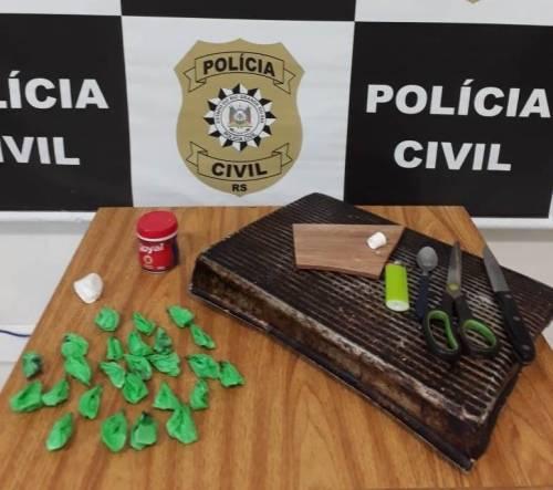 Mulher é presa com cocaína em Tiradentes do Sul