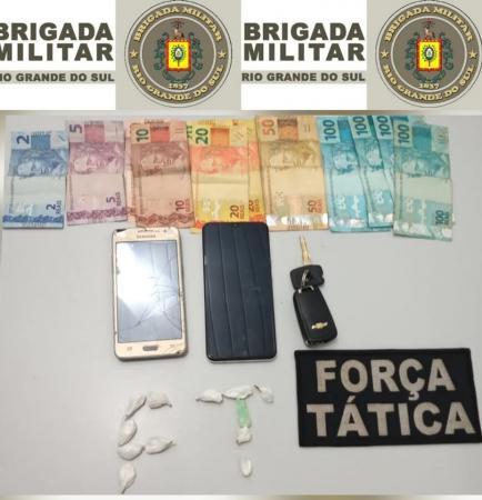 BM de Três Passos prende dois homens por tráfico de drogas