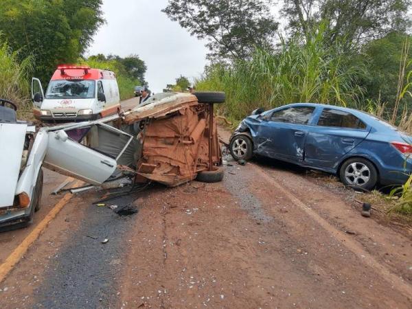 BM segue procurando condutor que provocou acidente na RSC 472 em Tenente Portela
