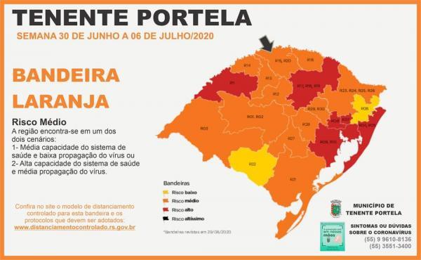 Estado volta atrás e mantém bandeira laranja na Região de Palmeira das Missões