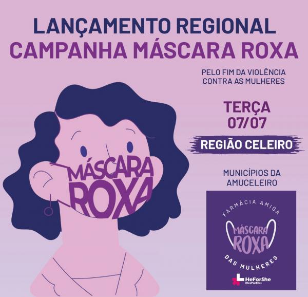 Região Celeiro: Comitê gaúcho da ONU Mulheres lança campanha Máscara Roxa
