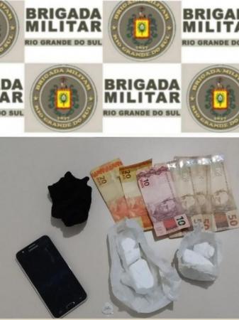 Homem é preso com mais de 150 gramas de cocaína em São Martinho