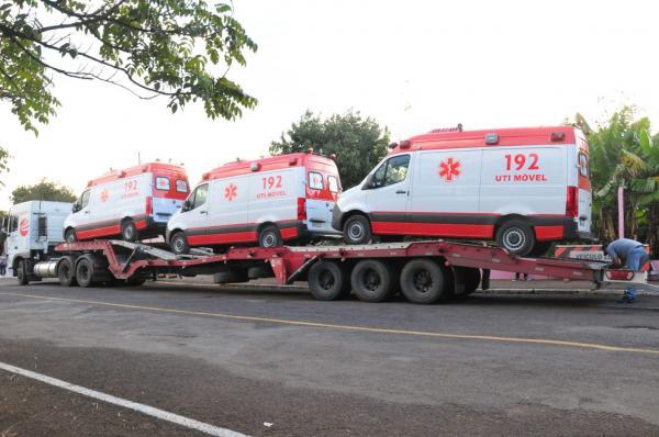 JBS entrega ambulâncias para hospitais em FW, Seberi e Três Passos
