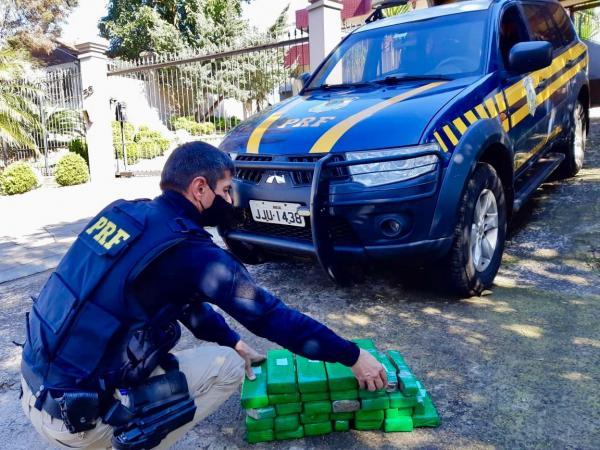 PRF de Sarandi divulga balanço sobre apreensões de drogas em 2020