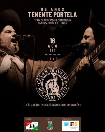 César Oliveira e Rogério Mello farão live direto de Tenente Portela