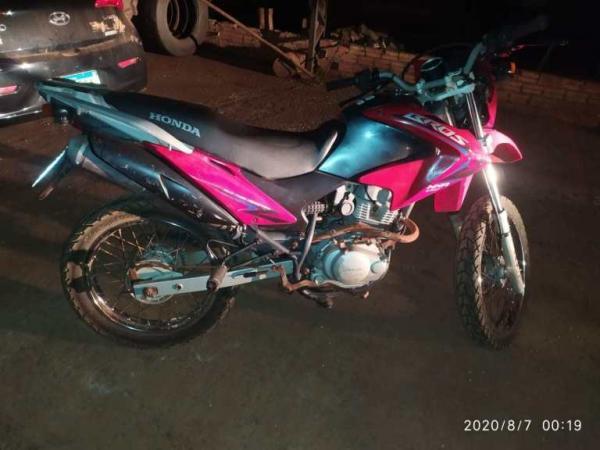 BM recupera motocicleta furtada em Tenente Portela