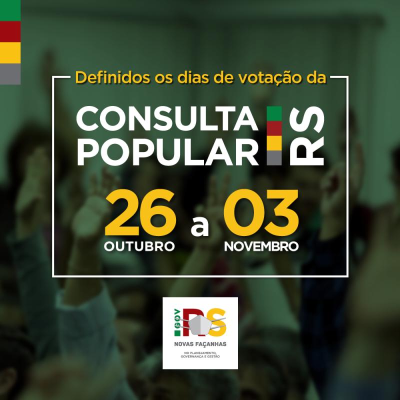 Votação da Consulta Popular será virtual e entre final de outubro e início de novembro