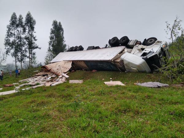 Motorista morre em acidente na RSC-472 em Tenente Portela
