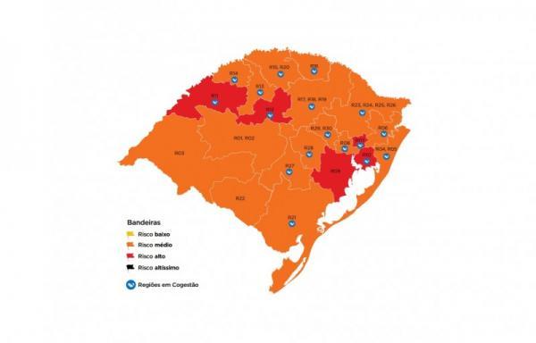 Região de Agrupamento de Palmeira das Missões retorna à bandeira laranja
