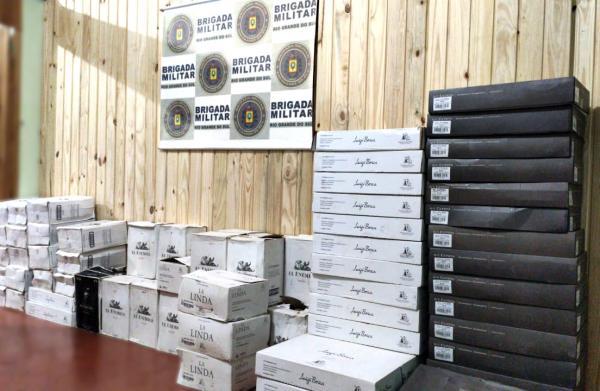 450 garrafas de vinho sem procedência são apreendidas em Tiradentes do Sul