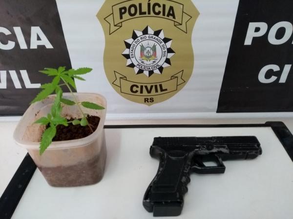 Polícia Civil de Tenente Portela apreende simulacro de arma usada em assaltos