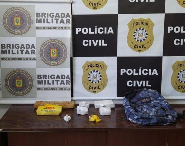 Polícia Civil de Três Passos prende dupla por tráfico de drogas
