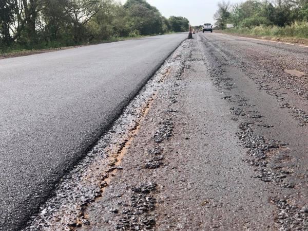 Restauração do asfalto de trecho da ERS 155 em Santo Augusto é reiniciada