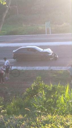 Jovem atropelada na BR 468 segue internada em estado grave
