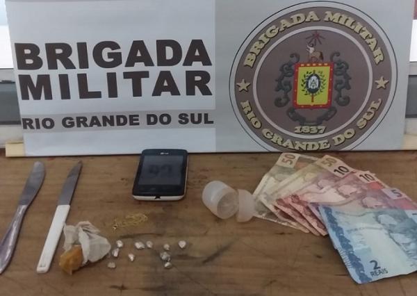 BM de Santo Augusto prende homem por tráfico de drogas