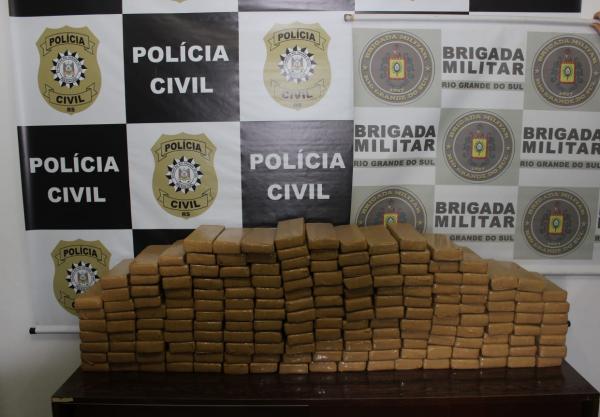 Dupla é presa com 114 quilos de maconha em Tenente Portela