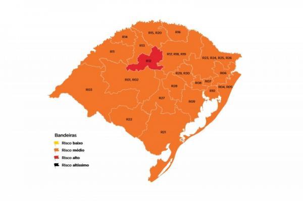 Municípios da Região Celeiro ficam classificados em bandeira laranja na 25ª rodada