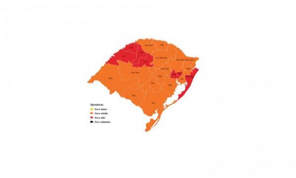 Pedido indeferido e nove municípios da Região Celeiro ficam em bandeira vermelha
