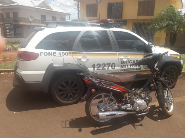 BM de Redentora recupera moto roubada e prende homem por receptação