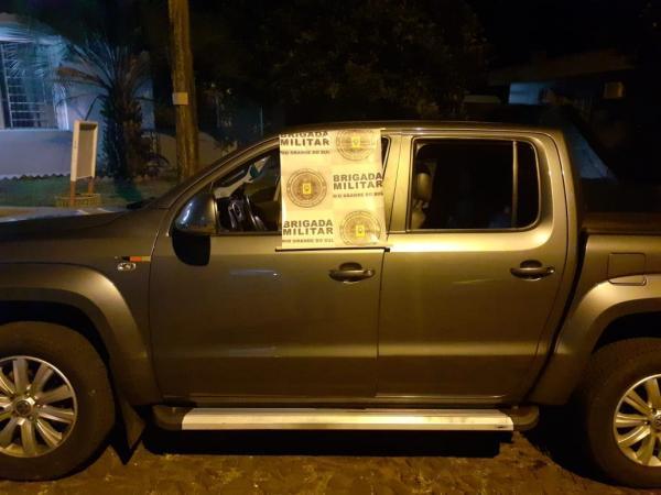 Brigada Militar de Três Passos recupera camionete furtada