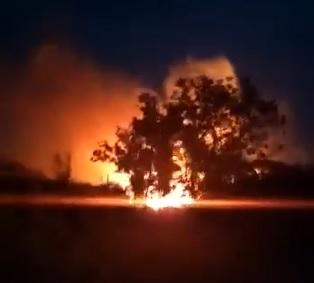 Vídeos mostram incêndios de grandes proporções no interior de Crissiumal