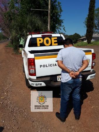 Foragido da Justiça de Coronel Bicaco é preso em ônibus