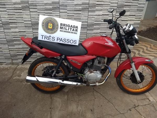 7º BPM recupera motocicleta furtada em Santo Augusto