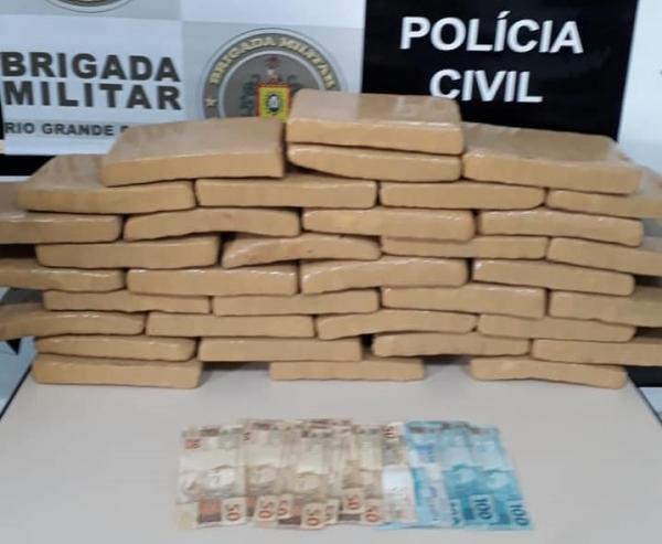 Polícia Civil de Três Passos prende trio com 24,5 quilos de maconha