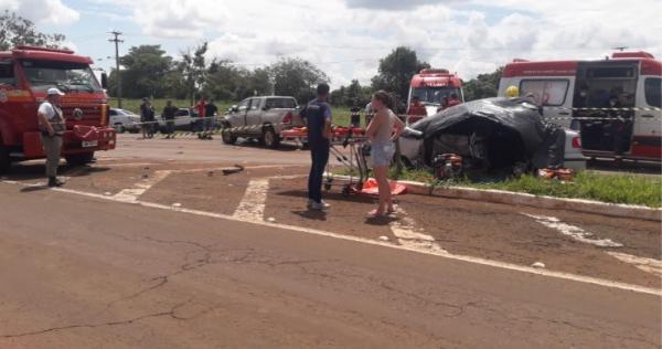 Santa Rosa: Colisão entre camionete e automóvel provoca três mortes
