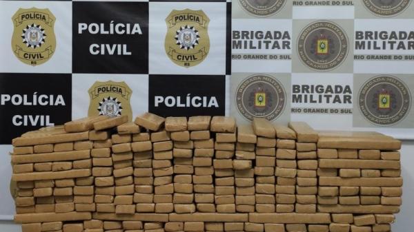 Dois portelenses são presos com 262 quilos de maconha