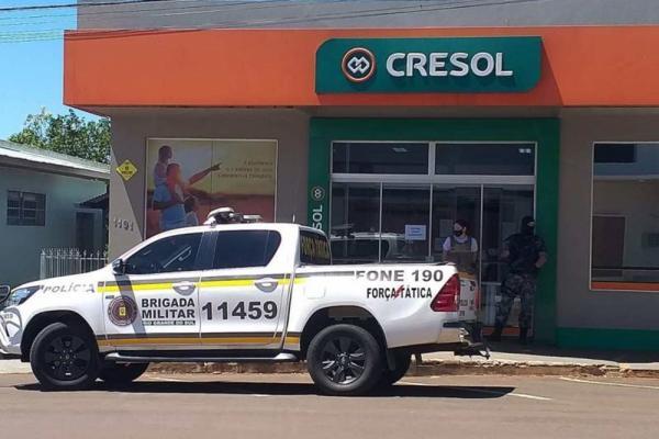 Criminosos armados invadem e assaltam agência Cresol no Noroeste do RS