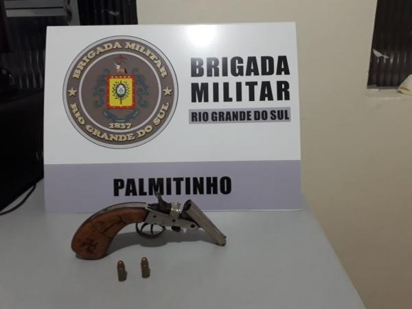 Brigada Militar apreende arma de fogo no interior de Palmitinho