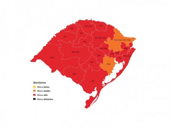 Região Celeiro permanece em alto risco epidemiológico na 37ª rodada