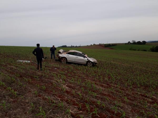 Motorista perde o controle de veículo e sofre acidente na RS 330