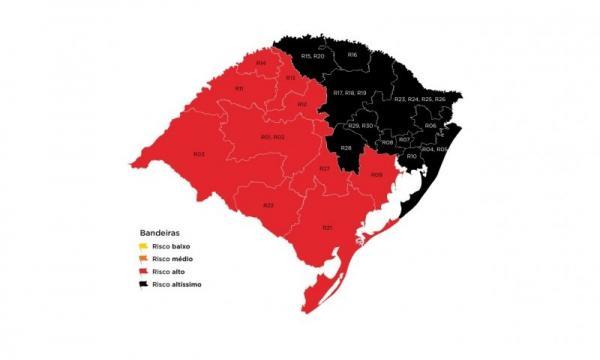 Doze municípios da Região Celeiro ficam em bandeira preta na 42ª rodada