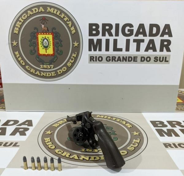 Indivíduo é preso com revólver municiado em Tenente Portela