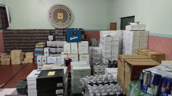 Três homens são presos com produtos de origem estrangeira em Tiradentes do Sul