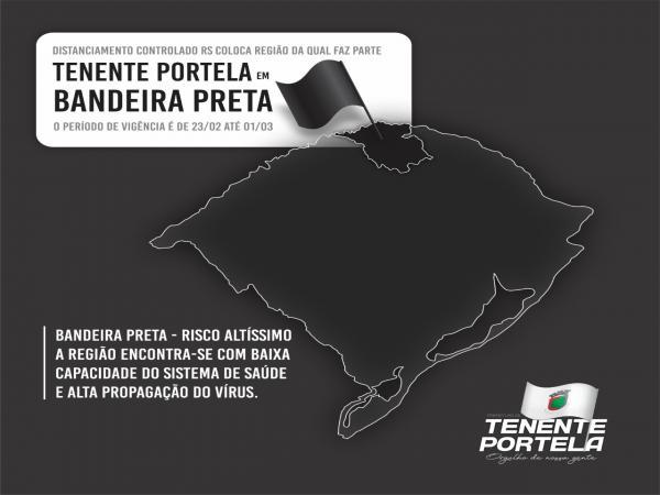 Com bandeira preta, comércio não essencial deverá permanecer fechado nesta terça-feira em Tenente Portela