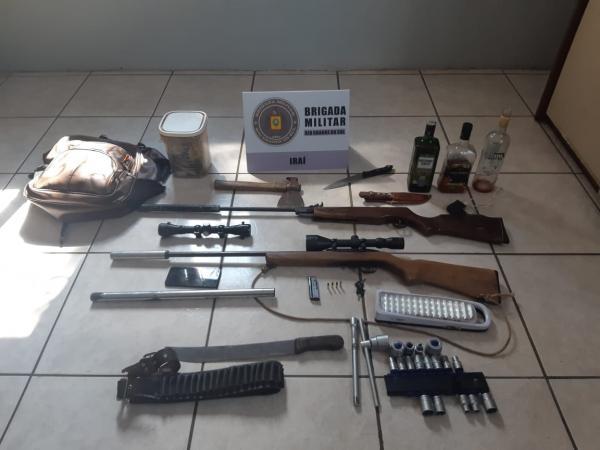 Brigada Militar apreende armas de fogo e outros objetos em Iraí