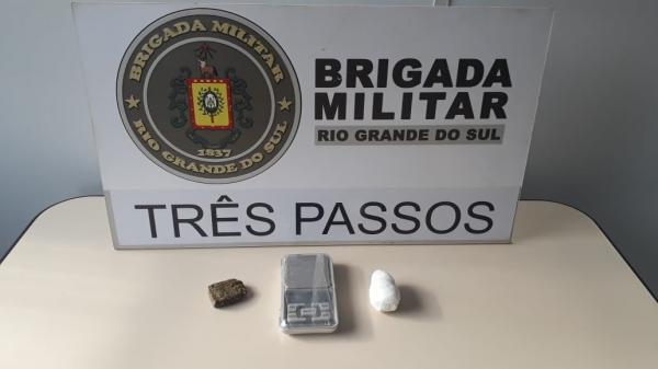 BM de Três Passos prende três pessoas por tráfico de drogas