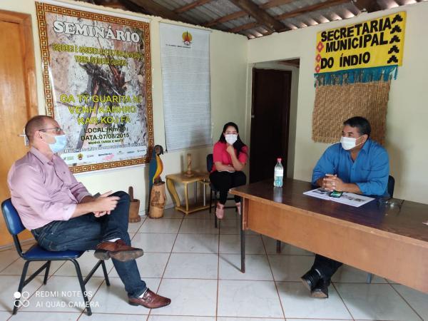 Prefeito de Portela pede auxílio ao Cacique do Guarita para tratar sobre Covid-19