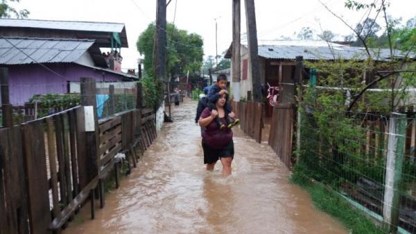 Sobe para 22 o número de municípios atingidos por temporais