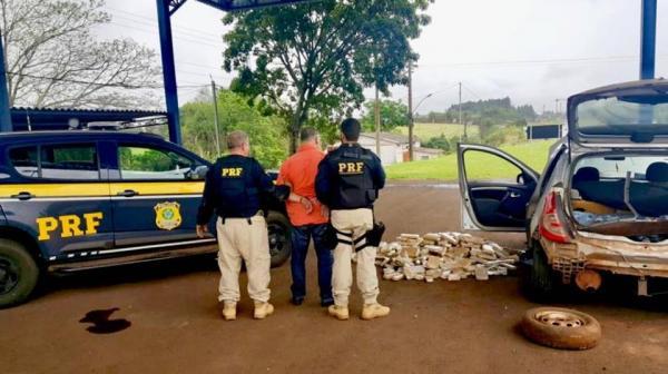 Uruguaio é preso em Seberi com 184 quilos de maconha