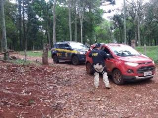 PRF localiza veículo utilizado no ataque ao Banrisul em Miraguaí
